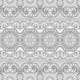 Seamless Abstract Tribal Pattern (Vector) Royalty Free Stock Images