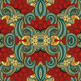 Seamless Abstract Tribal Pattern (Vector) Stock Images