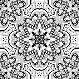 Seamless Abstract Tribal Pattern (Vector). Hand Drawn Ethnic Texture, Flight of Imagination Royalty Free Stock Image