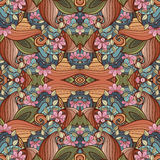 Seamless Abstract Tribal Pattern Vector Stock Image