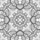 Seamless Abstract Tribal Pattern Vector. Hand Drawn Ethnic Texture, Flight of Imagination Royalty Free Stock Photo