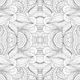 Seamless Abstract Tribal Pattern Vector. Hand Drawn Ethnic Texture, Flight of Imagination Stock Image