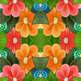 Seamless Abstract Tribal Pattern Vector Stock Photo