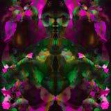 Seamless abstract tye dye pattern. Stock Image