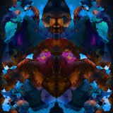 Seamless abstract tye dye pattern. Royalty Free Stock Photo