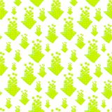 Seamless abstract upload green arrow background. Seamless raster abstract upload green arrow background made of colorful pointers royalty free illustration
