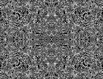 Seamless Abstract Vector Design Background. An intricate, seamless design created from a hand-drawn black and white abstract artistic drawing in format royalty free illustration