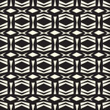 Seamless abstract  vector ethnic tribal pattern in monochrome background Royalty Free Stock Image
