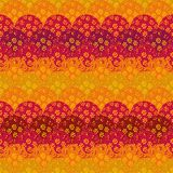Seamless abstract vector fishscale pattern with flowers and vivid colors vector illustration