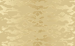 Seamless abstract vector futuristic golden cloth techno texture. Damask line background royalty free illustration