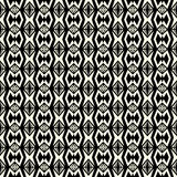 Seamless abstract vector geometric pattern in monochrome backgro Stock Photography