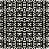 Seamless abstract vector geometric pattern in monochrome backgro Stock Photos