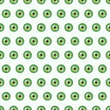 Seamless abstract vector pattern, bright symmetrical background with green pupils of the eyes over light backdrop Royalty Free Stock Photography