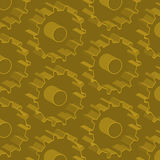 Seamless abstract vector pattern with 3d gears Royalty Free Stock Photography