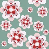 Seamless abstract vector pattern with daisy royalty free illustration