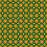 Seamless pattern with concentric circles. Seamless abstract vector pattern of geometric shapes with concentric circles in green and orange colors royalty free illustration