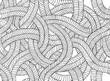 Seamless abstract vector pattern - plaits Royalty Free Stock Image