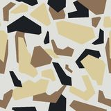 Seamless abstract vector sand military camouflage background. Pattern of Geometric royalty free illustration