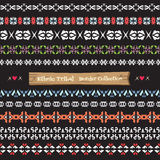 Seamless abstract vector Tribal border collection ,Ethnic border Royalty Free Stock Photo