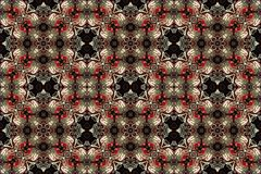 Seamless abstract vintage background colored mosaic symmetrical pattern colorful flower decor Design for tapestry, wallpaper,.  Royalty Free Stock Image
