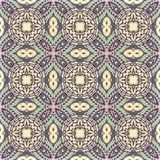 Seamless abstract vintage background colored mosaic symmetrical pattern colorful flower decor Design for tapestry, wallpaper,.  Stock Photos