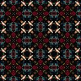 Seamless abstract vintage background colored mosaic symmetrical pattern colorful flower decor Design for tapestry, wallpaper,.  Royalty Free Stock Photos