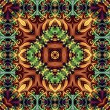 Seamless abstract vintage background colored mosaic symmetrical pattern colorful flower decor Design for tapestry, wallpaper,.  Stock Photography