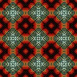Seamless abstract vintage background colored mosaic symmetrical pattern.  Stock Photography