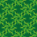 Seamless abstract vintage bright green pattern Royalty Free Stock Photos