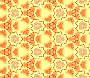 Seamless abstract wall-paper, orange-yellow. Basis for design. Seamless abstract wall-paper, orange-yellow. A decorative sample, the press for fabric, packing Stock Image