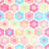 Seamless Abstract Watercolor Flower Background Stock Photo