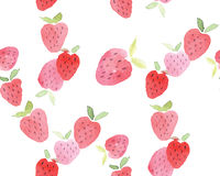 Seamless abstract watercolor hand drawn beautiful strawberry stock photos