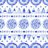 Seamless abstract watercolor pattern, hand drawn geometric background Stock Image
