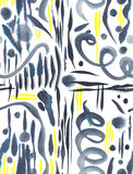 Seamless abstract watercolor pattern Stock Photography
