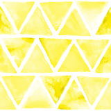 Seamless abstract watercolor retro triangular background Royalty Free Stock Photo