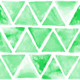 Seamless abstract watercolor retro triangular background Stock Photography
