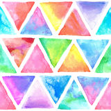 Seamless abstract watercolor retro triangular background Stock Image