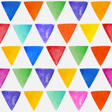 Seamless abstract watercolor  triangular background. Stock Images