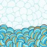 Seamless abstract wave hand-drawn pattern Royalty Free Stock Photography