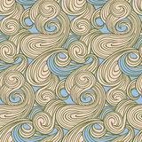 Seamless abstract wave pattern Stock Photography