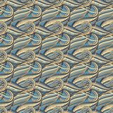 Seamless abstract wave pattern Stock Image