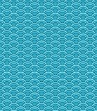 Seamless abstract wave pattern. Circle pattern. Blue color ornament. vector illustration