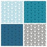 Seamless abstract wave pattern. Circle pattern, ornament. stock illustration