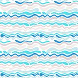 Seamless abstract wave pattern royalty free illustration