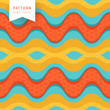 Seamless abstract waves pattern, wavy background. Stock Images