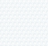 Seamless abstract white  hexagon pattern Royalty Free Stock Image