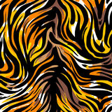 Seamless abstract wild exotic animal print.Leopard, zebra,gepard, tiger striped pattern. royalty free illustration