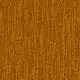 Seamless abstract wood carved floral ornament Stock Photos