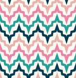 Seamless abstract zigzag wave pattern Stock Image