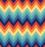Seamless abstract zigzag wave pattern Royalty Free Stock Photography